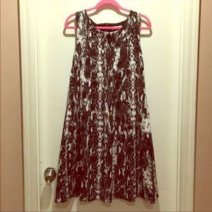 Calvin Klein Snakeskin Print  Dress
